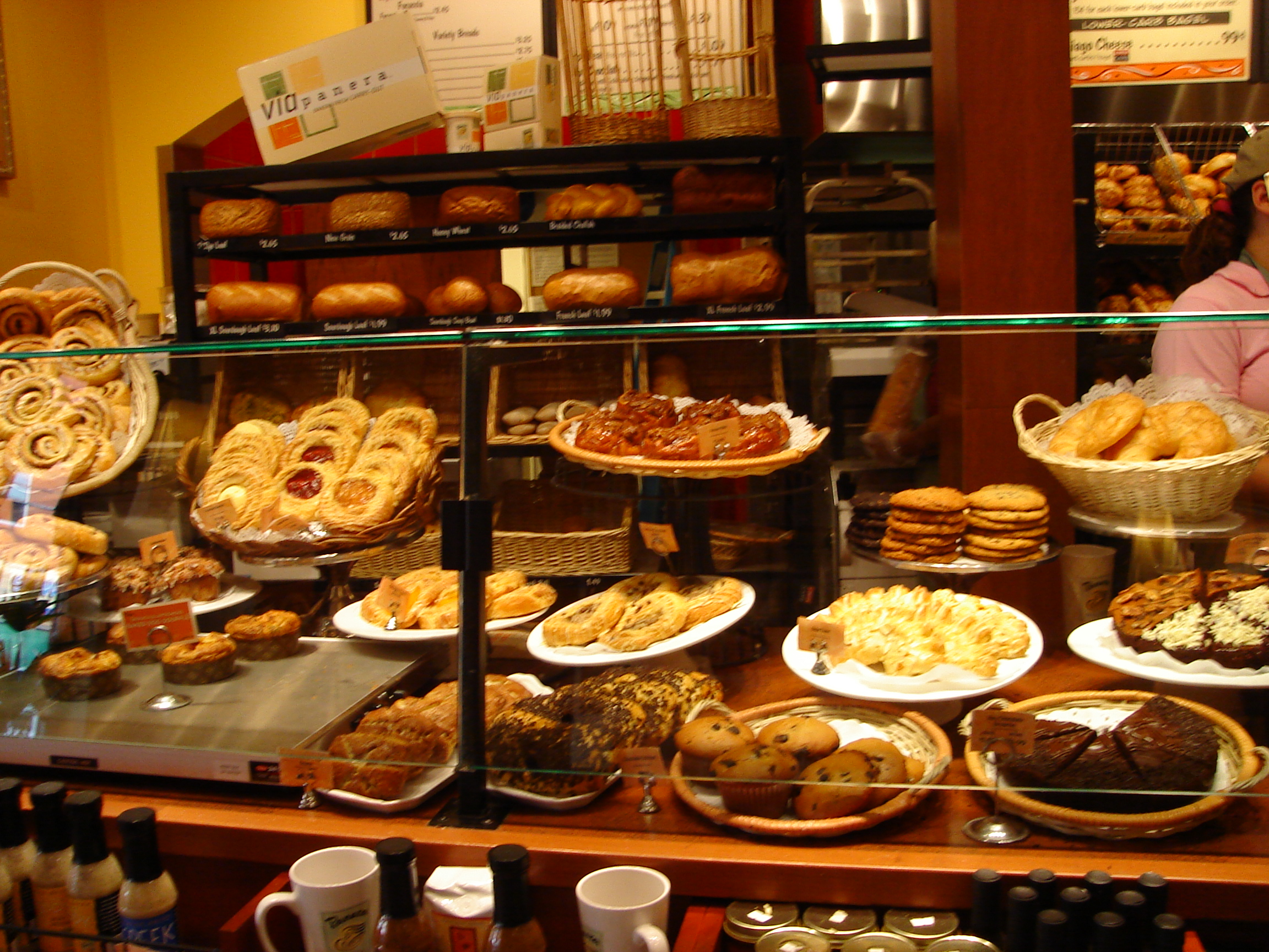 Here are the pastries at Panera Bread:
