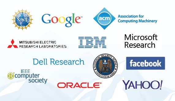 snowbird 2014 sponsors:Microsoft Research, Facebook, Google, IBM, the NSA, Yahoo! labs, MERL, Dell Labs