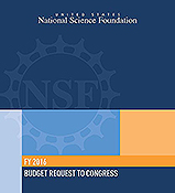 Cover of NSF's FY16 budget request to Congress